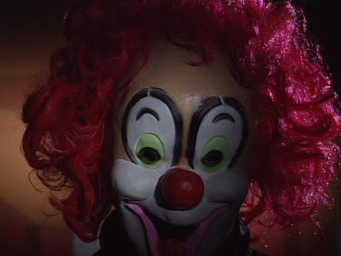clown mask with red hair - clown stock videos & royalty-free footage