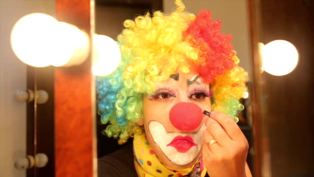 clown tears. - dog knotted in woman stock videos & royalty-free footage