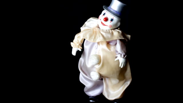clown toy dancing - doll stock videos & royalty-free footage