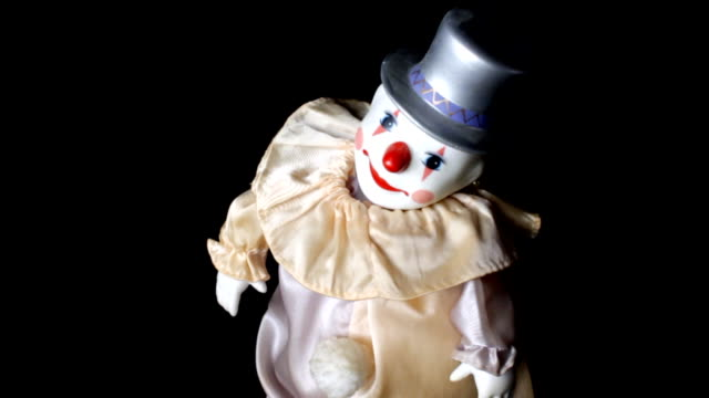 clown toy dancing - clown stock videos & royalty-free footage