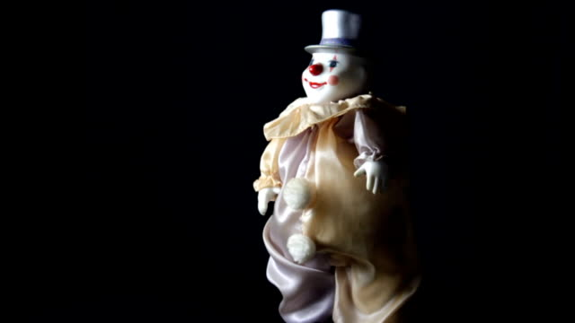clown toy dancing - doll stock videos and b-roll footage