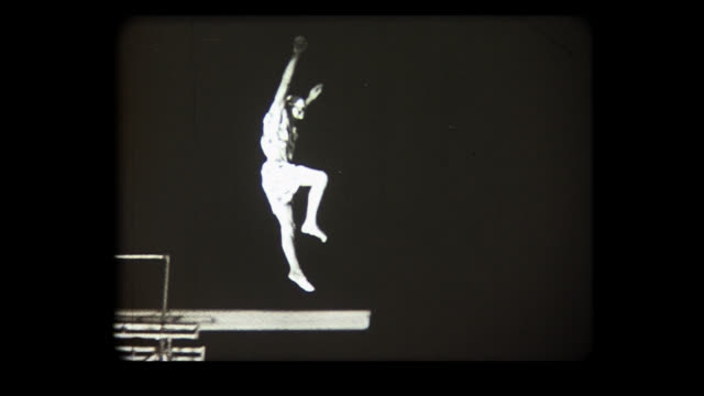 1972 clowns on diving boards - stunt stock videos & royalty-free footage