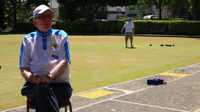club treasurer chris wright of farnborough bowls club talks bowls covid19 and the economical effects of the virus on the volunteer run club chris... - efficiency stock videos & royalty-free footage
