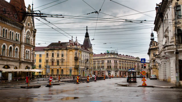 time lapse: cluj napoca - romania stock videos & royalty-free footage