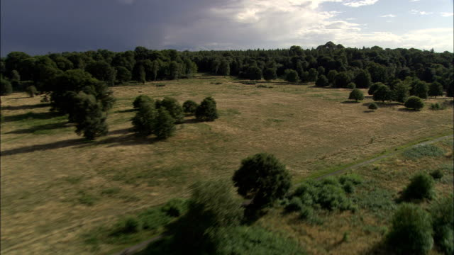 clumber park  - aerial view - england, nottinghamshire, bassetlaw, united kingdom - nottinghamshire stock videos & royalty-free footage