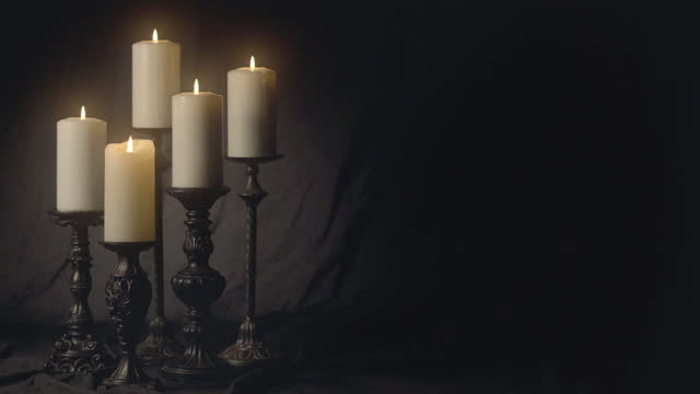 cluster of candles on canvas - pastor stock videos & royalty-free footage