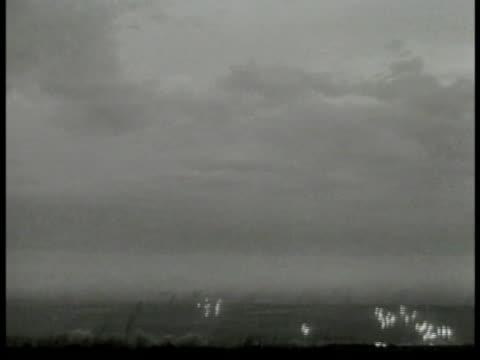 cluster of rockets firing in open field distant wwii world war ii - 1944 stock videos & royalty-free footage