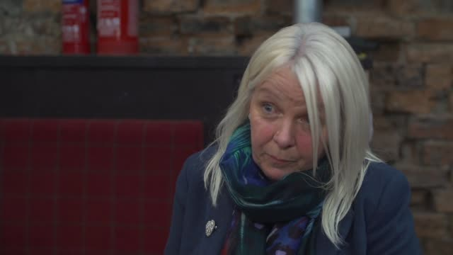 inquiry finds that pilot ignored fuel warnings scotland glasgow int mary kavanagh interview sot - ヘリコプター事故点の映像素材/bロール
