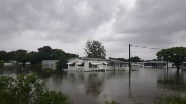 coach house mobile home park flooding in manatee county - south america stock videos & royalty-free footage
