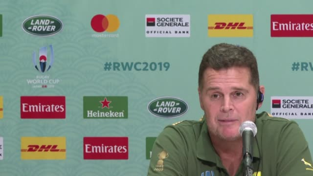 coach rassie erasmus named an identical matchday 23 to their 493 victory over italy earlier in the tournament with a six two forwards backs split on... - back to front stock videos & royalty-free footage