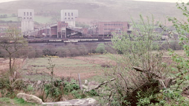 montage coal being processed at abernant colliery / aberdare, wales, united kingdom - wales stock videos & royalty-free footage