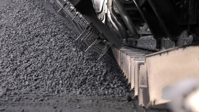 Coal being processed