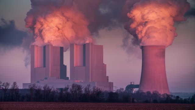 Kolen branden elektriciteitscentrale