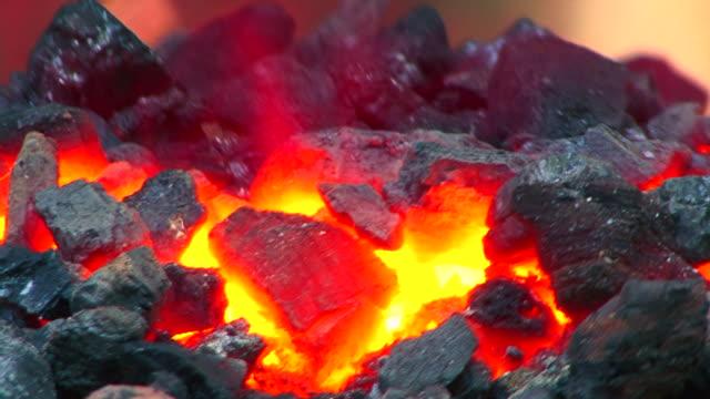 coal burning - blacksmith stock videos & royalty-free footage