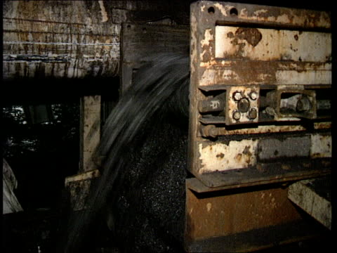 All party report Wellbeck CMS Coal off conveyor CBV Coal cutting machine working CMS Miner at machinery controls PULL
