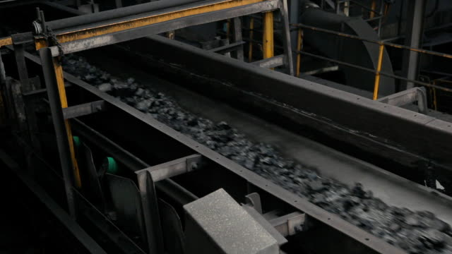 coal conveyor - coal wash. - belt stock videos and b-roll footage