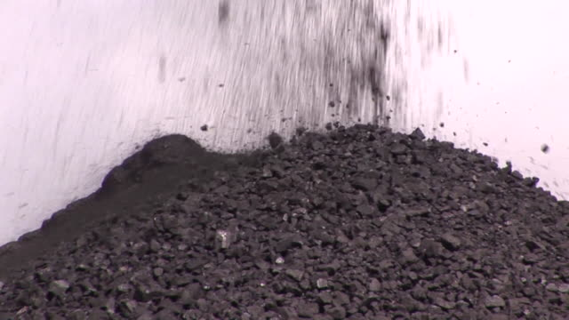 coal falling into a pile - coal stock videos & royalty-free footage