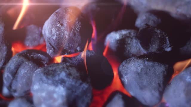 Coal Fire tracking shot. HD