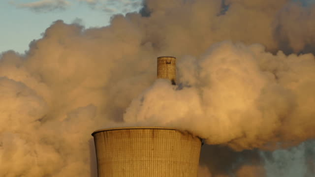 CU Coal Fired Power Plant Emitting Fumes in Atmosphere