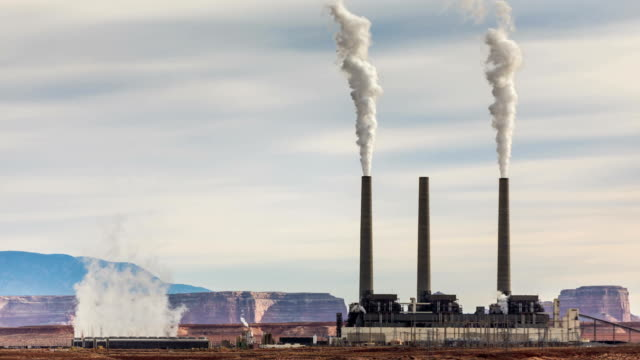 Coal Fired Power Plant Time Lapse