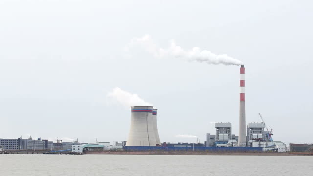 coal fired power station generating and exhaust gas - power in nature stock videos and b-roll footage