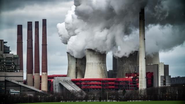 kohle-kraftwerk - kraftwerk stock-videos und b-roll-filmmaterial