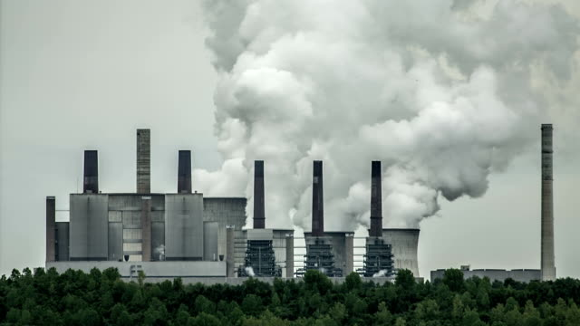 coal fired power station - coal fired power station stock videos and b-roll footage