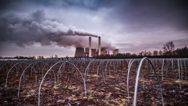 time lapse: coal fired power station - greenhouse effect stock videos and b-roll footage