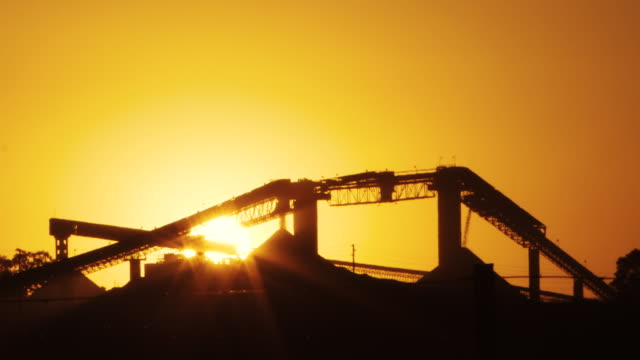 coal mine silhouette at sunset - mpumalanga province stock videos and b-roll footage