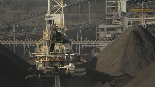 coal mine stockpiles - coal mine stock videos & royalty-free footage