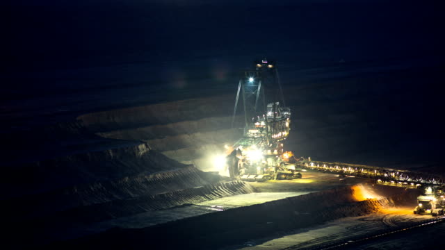 time lapse: coal mine - surface mine stock videos and b-roll footage