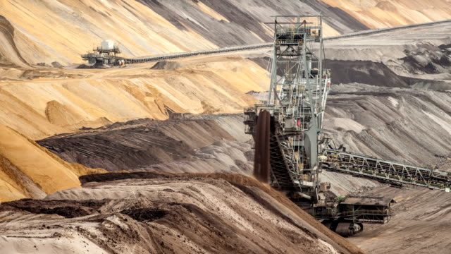 time lapse: coal mine - coal mine stock videos & royalty-free footage