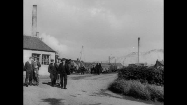 montage coal miners leaving work and returning to the village / scotland, united kingdom - scotland stock videos & royalty-free footage