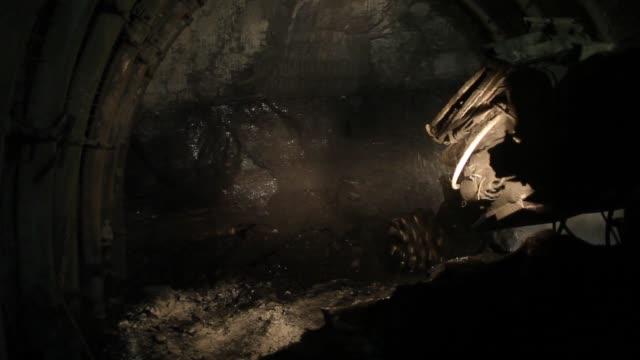 Coal miners work underground at the cutting face in the Piniowek coal mine operated by Jastrzebska Spolka Weglowa SA in Pawlowice Poland on Wednesday...