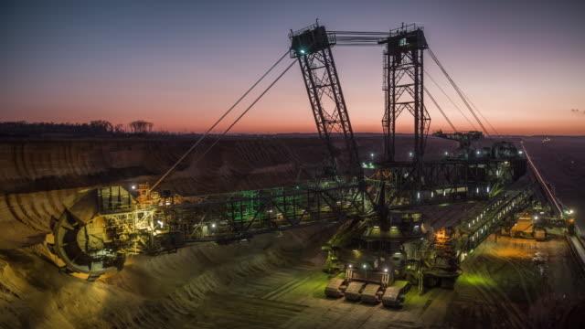 Coal Mining at Dusk