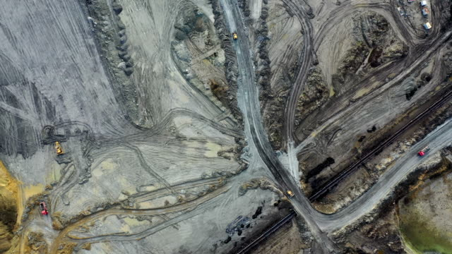 coal mining from above - quarry stock videos & royalty-free footage