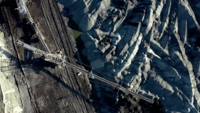 coal mining from above - fossil fuel stock videos & royalty-free footage