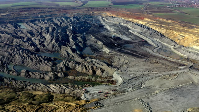 coal mining from above - bulldozer stock videos & royalty-free footage