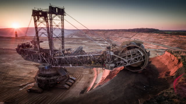 coal mining, lignite surface mine - aerial - mine stock videos & royalty-free footage