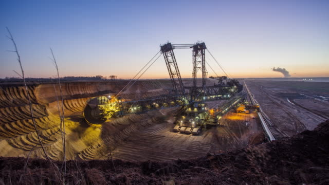 coal mining -time lapse - pit mine stock videos and b-roll footage