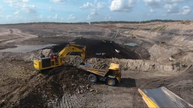 coal mining - bulldozer stock videos and b-roll footage