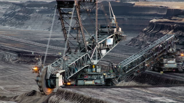 time lapse: coal mining - pit mine stock videos and b-roll footage