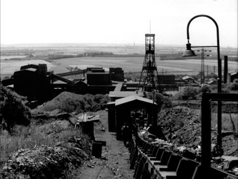 coal moves along a conveyer belt at a mine in luxembourg. - coal mine stock videos & royalty-free footage