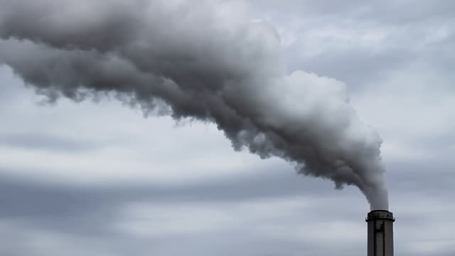coal plant stack - air pollution stock videos & royalty-free footage