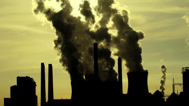 hd coal power plant in the backlight - emitting stock videos & royalty-free footage
