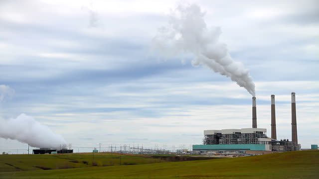 coal power plant wide angle - air pollution stock videos & royalty-free footage