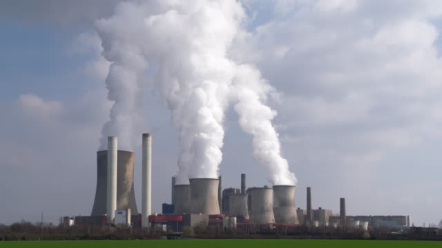 Coal power station Niederaussem. North-Rhine Westphalia, Germany.
