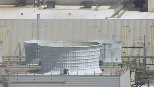 WS AERIAL POV Coal storage and power facility at ADM Plant / Iowa, United States