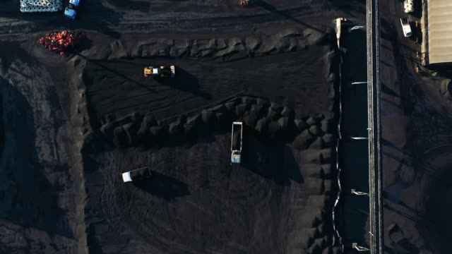 coal storage at harbor - elevated view stock videos & royalty-free footage