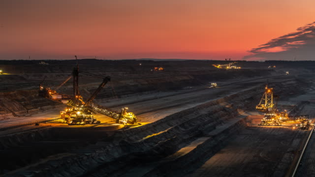 coal surface mine - time lapse - mining stock videos & royalty-free footage